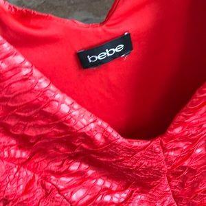 bebe Tops - Bebe Red Peplum Top, size M